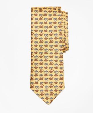 Brooks Brothers Bull and Bear Print Tie