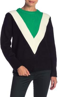 ENGLISH FACTORY Colorblock Knit Sweater