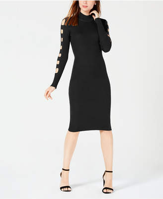 Almost Famous Juniors' Cutout-Sleeve Sweater Dress