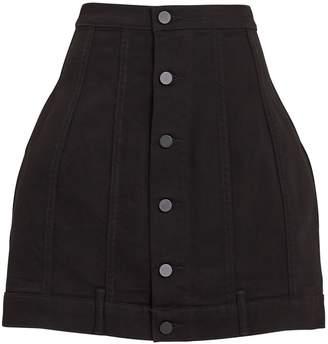 Alexander Wang Seamed Black Rinse Skirt