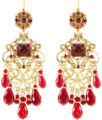 Red crystal chandelier shopstyle jose maria barrera multihued filigree chandelier earrings red aloadofball Image collections