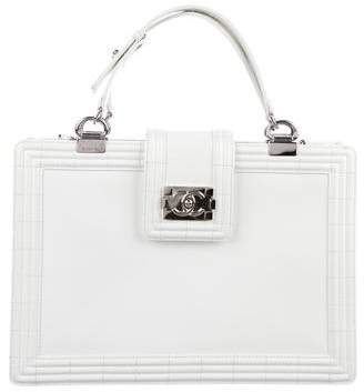 Chanel Large Patent Reverso Boy Tote