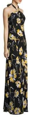 Michael Kors Floral Silk Gown