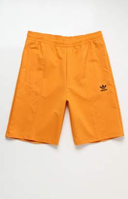 adidas Pinstripe Pintuck Drawstring Shorts