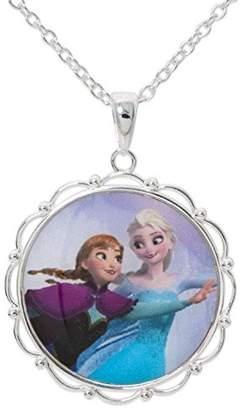 Disney Frozen Elsa & Anna Skating Pendant GIFT BOX Silver Plated