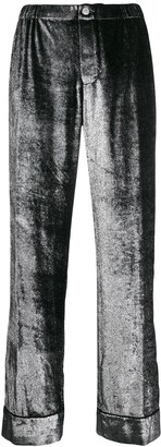 F.R.S For Restless Sleepers wide leg shimmer trousers