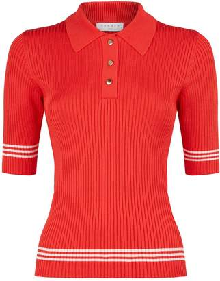 Sandro Knitted Polo Shirt
