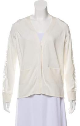 Chloé Lace-Accented Knit Cardigan