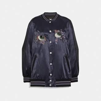 Coach Oversized Souvenir Varsity Jacket