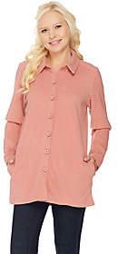 Denim & Co. Essentials Long Sleeve Fleece BigShirt with