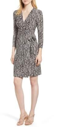 Anne Klein Cedarwood Stretch Crepe Faux Wrap Dress