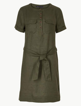Marks and Spencer Pure Linen Mini Shirt Dress
