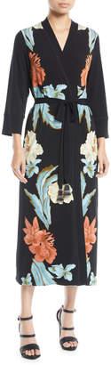 Le Superbe Jacques Floral Robe Wrap Dress
