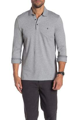Ted Baker Scooby Long Sleeve Textured Polo Shirt