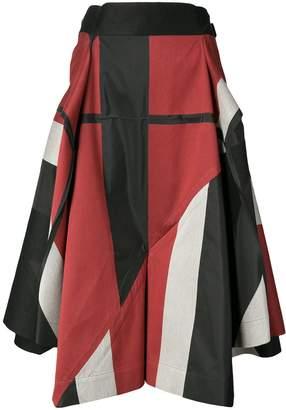 Issey Miyake printed napkin skirt