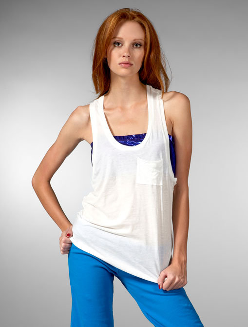 Blue Life Trouble Tank in White