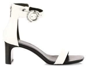 Rag & Bone Rag& Bone Rag& Bone Women's Ellis Leather Mid-Heel Sandal - White - Size 35 (5)