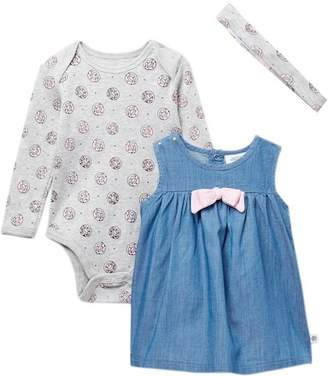 Rosie Pope Donut Dress 3-Piece Set (Baby Girls)
