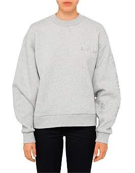 Alexander Wang Sweatshirt With Chrome Decals