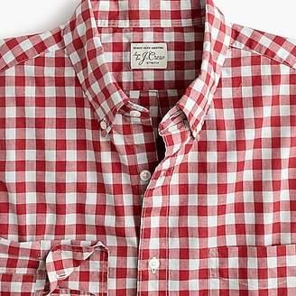 J.Crew Stretch Secret Wash shirt in heather poplin gingham