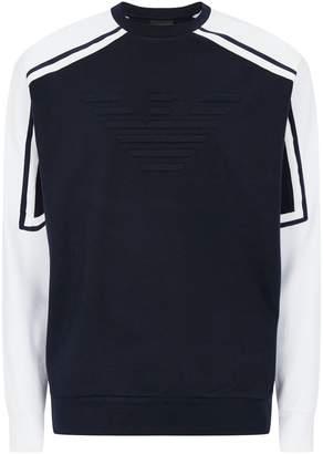 Emporio Armani Embossed Logo Sweater