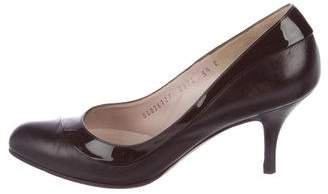 Salvatore Ferragamo Leather Almond-Toe Pumps