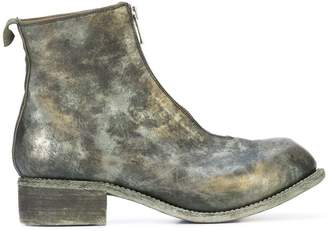 Guidi camouflage zip front ankle boots