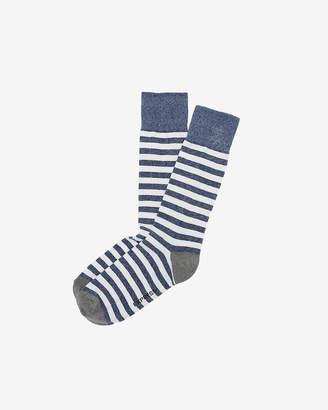 Express Solid Heel Stripe Dress Socks