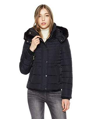 Royal Matrix Women's Warm Thick Quilted Detachable Faux Fur Collar Puffer Coat