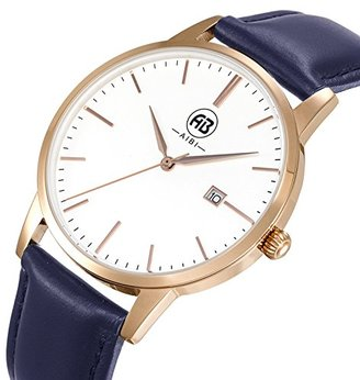 1f2fd86b98 AIBI 腕時計 レディース ブラウン 本革バンド リストウォッチ 高品質 ダイヤモンドクォーツアナログ 文字盤
