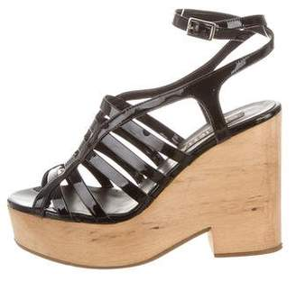 Giulietta Caged Patent Leather Wedges