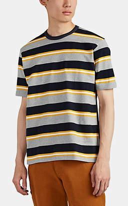 Junya Watanabe Comme des Garçons Men's Striped Cotton T-Shirt - Gray