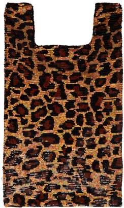 Ashish Leopard sequin-embellished cotton tote