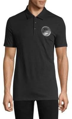 Versace Rubber Crest Cotton Polo Shirt
