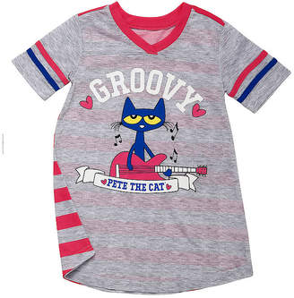 PETE THE CAT Pete The Cat Short Sleeve V Neck Nightshirt - Girls