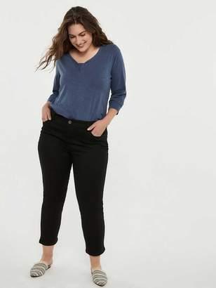 Petite Straight Fit Straight Leg Black Jean - d/C JEANS