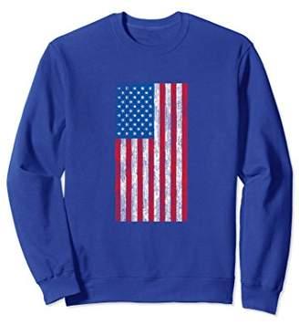 USA Flag Sweatshirt Patriotic Fourth Of July Stripe