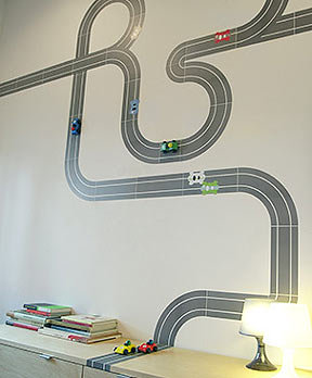 Blik Race Ya Re-Stik Wall Decal
