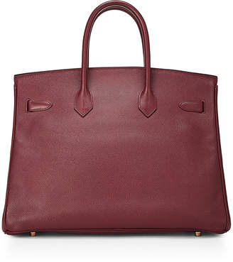 Hermes Vintage Birkin 35 Calfskin Satchel Bag Red