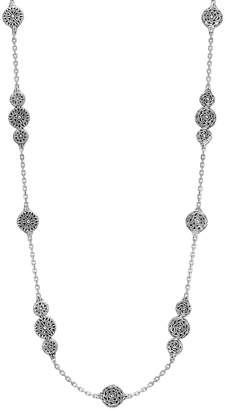 John Hardy Classic Chain Carved Triple-Circle Station Necklace