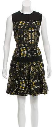 Proenza Schouler Silk Jacquard Sleeveless Mini Dress