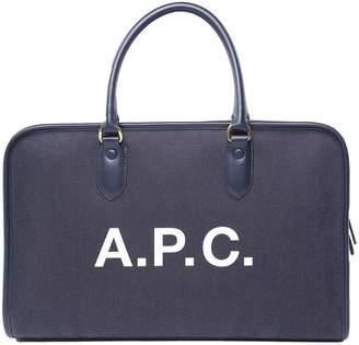 A.P.C. Gertrude Denim And Leather Handbag