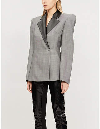 Gareth Pugh Padded-shoulder woven jacket