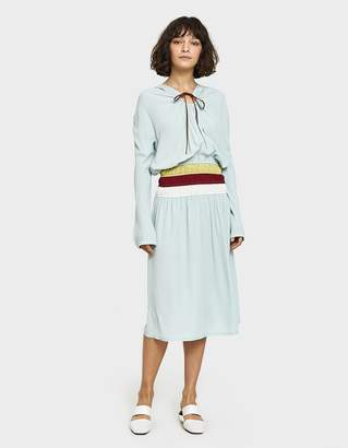Marni L/S Dress with Waistband in White Pepper