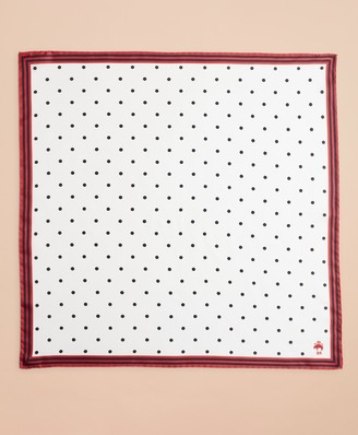 Brooks Brothers Polka-Dot Silk Square Scarf