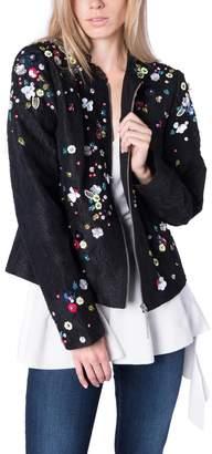 Elie Tahari Flower Black Jacket