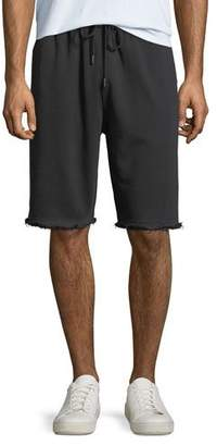 Helmut Lang Men's Distressed-Hem Knit Shorts