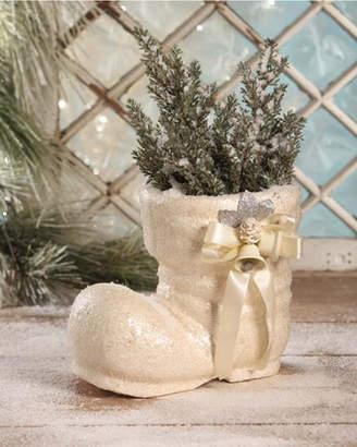 Bethany Lowe Vintage Santa Boot Large Paper Mache Christmas Decor