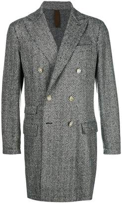 Eleventy double breasted herringbone coat