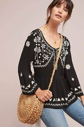 Meadow Rue Gardiner Henley Blouse